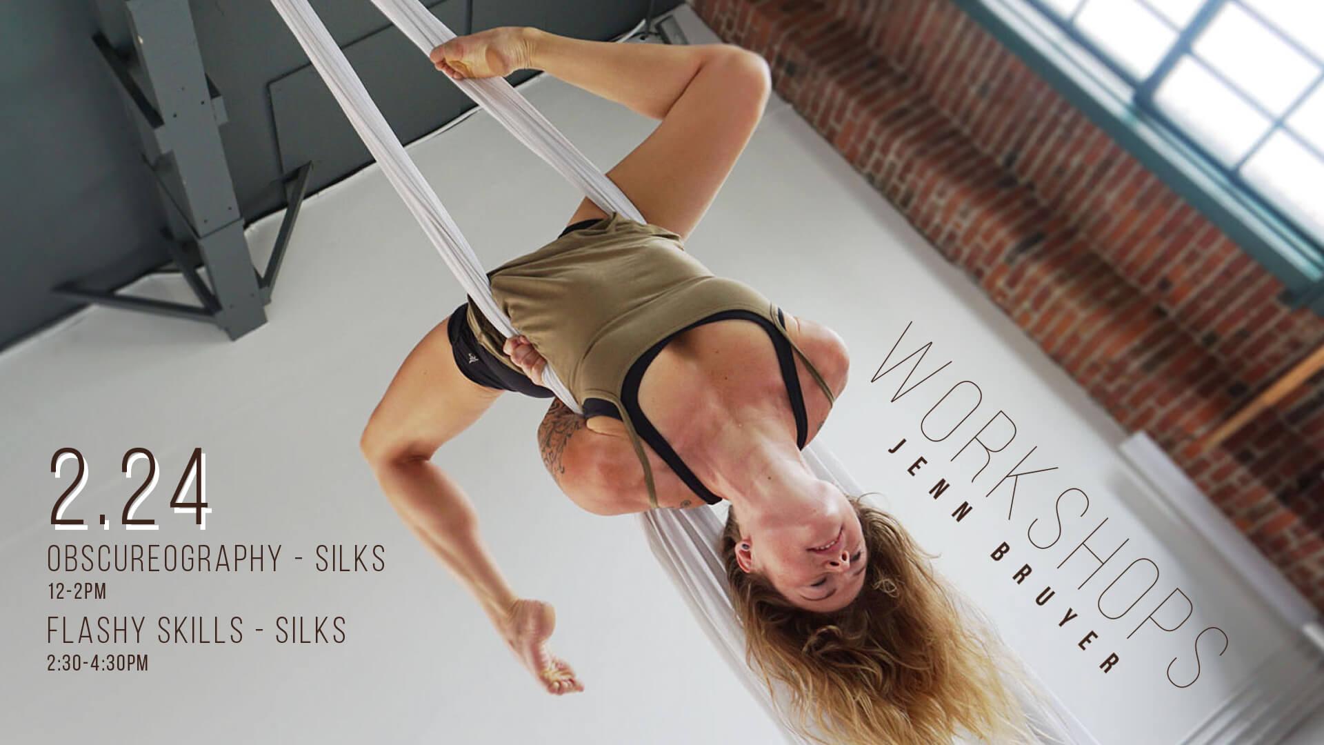 Aerial Silk Workshops with Jenn Bruyer