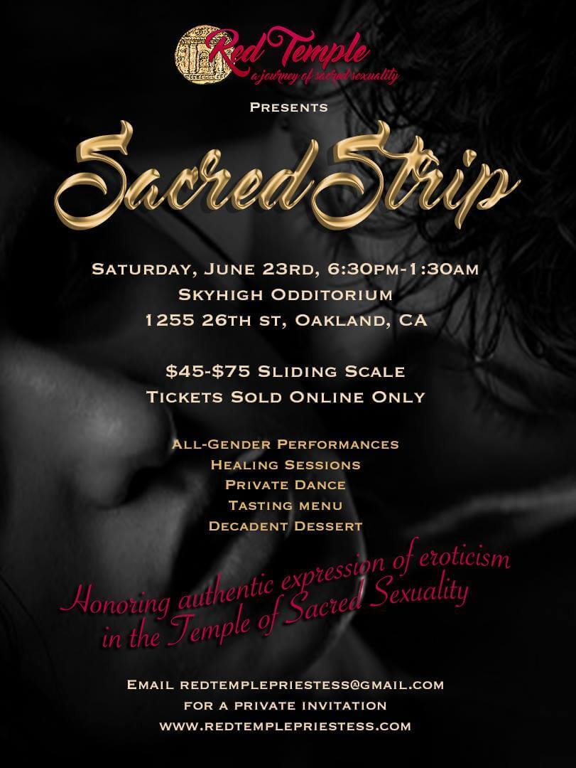 Red Temple presents Sacred Strip